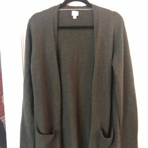 Sweaters - Dark green cardigan sweater NWOT